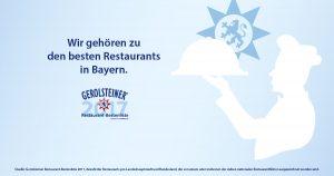 """Gerolsteiner Auszeichnung: """"Beste Restaurants in Bayern"""""""