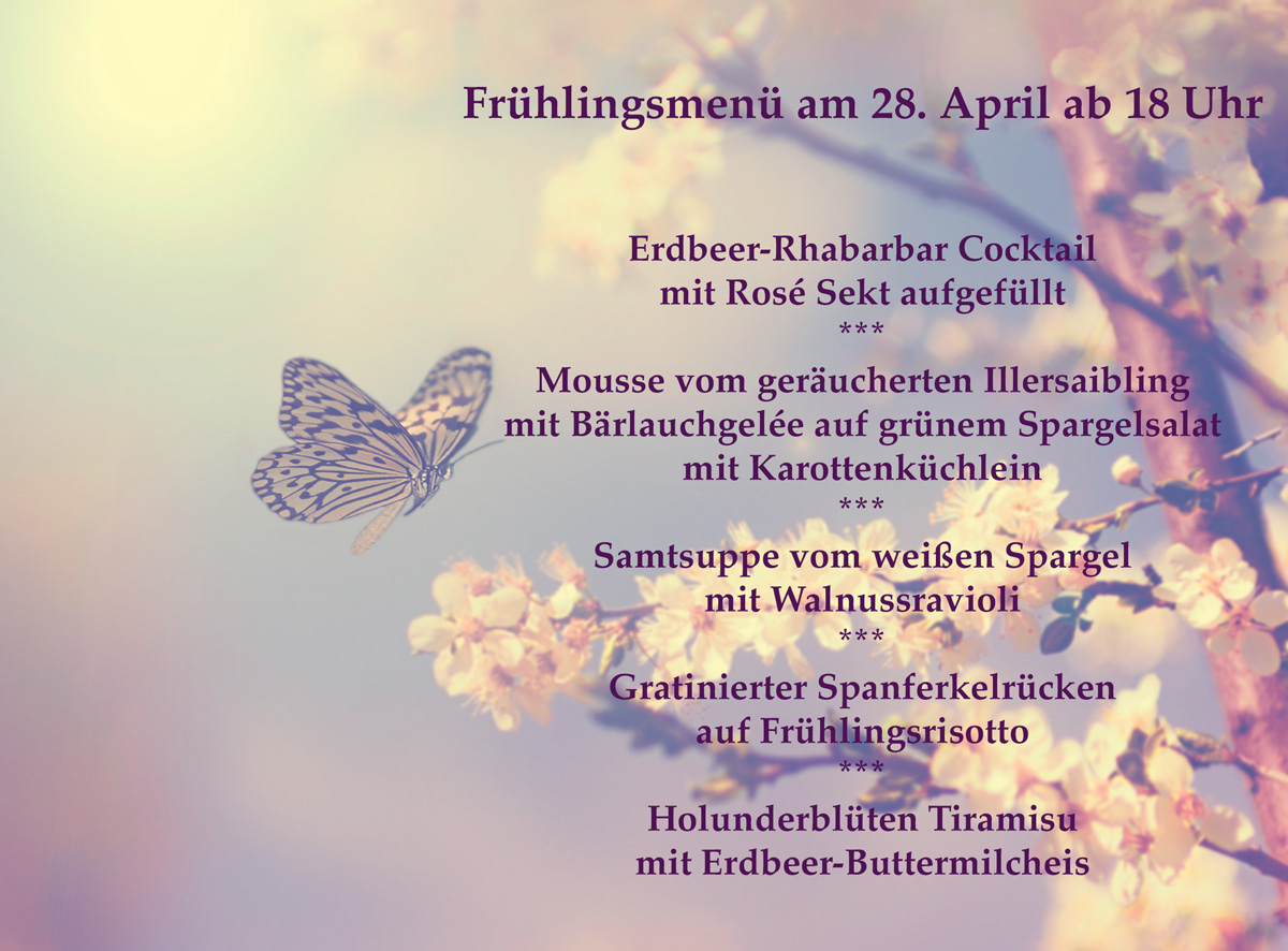 Das Frühlingsmenü 2017 der Speisemeisterei Burgthalschenke